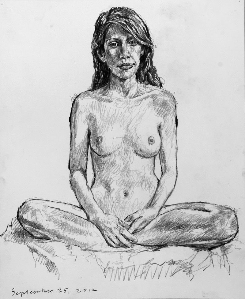 Life drawing by Jeff Whipple 2012